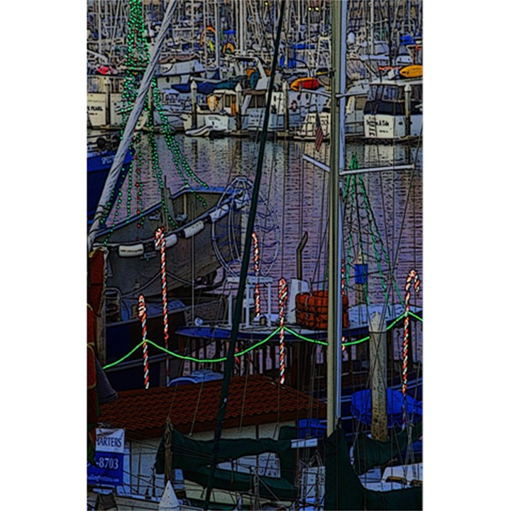Christmas Boats In Harbor 5.5  x 8.5  Notebooks