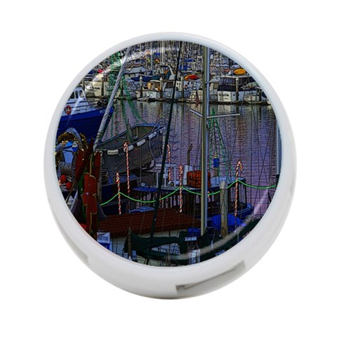 Christmas Boats In Harbor 4-Port USB Hub (One Side)