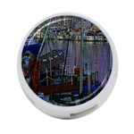 Christmas Boats In Harbor 4-Port USB Hub (Two Sides)  Front