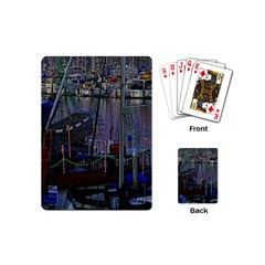 Christmas Boats In Harbor Playing Cards (Mini)