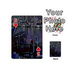 Christmas Boats In Harbor Playing Cards 54 (Mini)  Front - Heart5