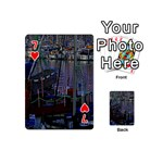 Christmas Boats In Harbor Playing Cards 54 (Mini)  Front - Heart7