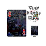 Christmas Boats In Harbor Playing Cards 54 (Mini)  Front - Heart10