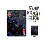 Christmas Boats In Harbor Playing Cards 54 (Mini)  Front - HeartA