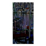 Christmas Boats In Harbor Shower Curtain 36  x 72  (Stall)  36 x72 Curtain
