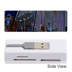 Christmas Boats In Harbor Memory Card Reader (Stick)  Front