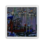 Christmas Boats In Harbor Memory Card Reader (Square)  Front