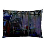 Christmas Boats In Harbor Pillow Case (Two Sides) Back