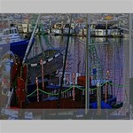 Christmas Boats In Harbor Deluxe Canvas 16  x 12   16  x 12  x 1.5  Stretched Canvas