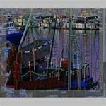 Christmas Boats In Harbor Deluxe Canvas 20  x 16   20  x 16  x 1.5  Stretched Canvas