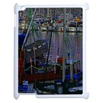 Christmas Boats In Harbor Apple iPad 2 Case (White) Front