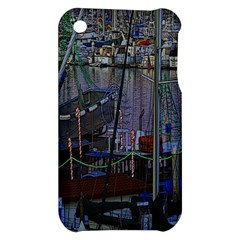 Christmas Boats In Harbor Apple iPhone 3G/3GS Hardshell Case