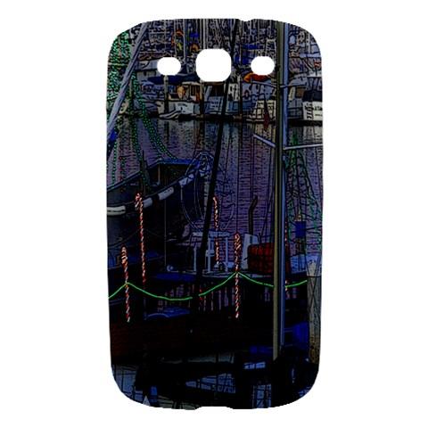 Christmas Boats In Harbor Samsung Galaxy S III Hardshell Case