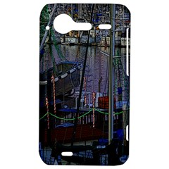 Christmas Boats In Harbor HTC Incredible S Hardshell Case