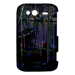 Christmas Boats In Harbor HTC Wildfire S A510e Hardshell Case