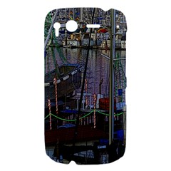Christmas Boats In Harbor HTC Desire S Hardshell Case