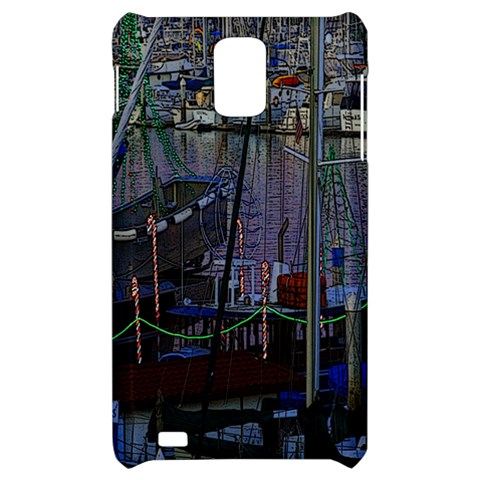 Christmas Boats In Harbor Samsung Infuse 4G Hardshell Case