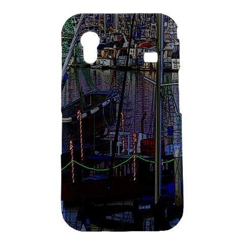 Christmas Boats In Harbor Samsung Galaxy Ace S5830 Hardshell Case