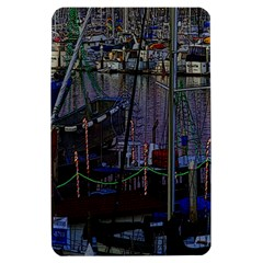Christmas Boats In Harbor Kindle Fire (1st Gen) Hardshell Case