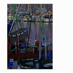 Christmas Boats In Harbor Small Garden Flag (Two Sides)