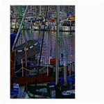 Christmas Boats In Harbor Small Garden Flag (Two Sides) Back