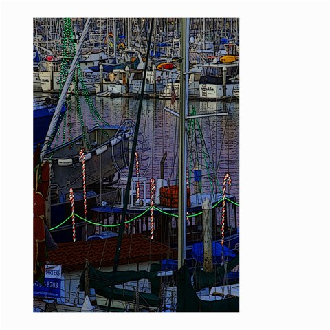 Christmas Boats In Harbor Large Garden Flag (Two Sides)