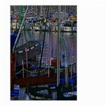 Christmas Boats In Harbor Large Garden Flag (Two Sides) Back