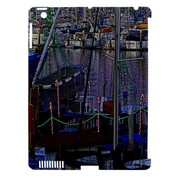 Christmas Boats In Harbor Apple iPad 3/4 Hardshell Case (Compatible with Smart Cover)