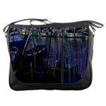 Christmas Boats In Harbor Messenger Bags Front