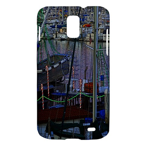 Christmas Boats In Harbor Samsung Galaxy S II Skyrocket Hardshell Case