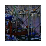 Christmas Boats In Harbor Acrylic Tangram Puzzle (6  x 6 ) Front