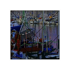 Christmas Boats In Harbor Acrylic Tangram Puzzle (4  x 4 )