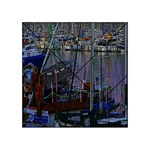 Christmas Boats In Harbor Acrylic Tangram Puzzle (4  x 4 ) Front