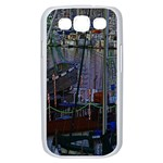 Christmas Boats In Harbor Samsung Galaxy S III Case (White) Front