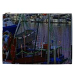 Christmas Boats In Harbor Cosmetic Bag (XXL)  Front