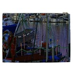 Christmas Boats In Harbor Cosmetic Bag (XXL)  Back