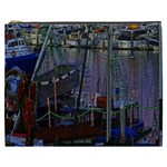 Christmas Boats In Harbor Cosmetic Bag (XXXL)  Front