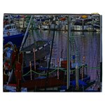 Christmas Boats In Harbor Cosmetic Bag (XXXL)  Back