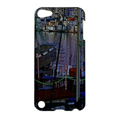 Christmas Boats In Harbor Apple iPod Touch 5 Hardshell Case