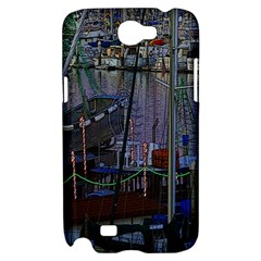 Christmas Boats In Harbor Samsung Galaxy Note 2 Hardshell Case