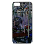 Christmas Boats In Harbor Apple Seamless iPhone 5 Case (Clear) Front
