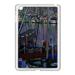 Christmas Boats In Harbor Apple iPad Mini Case (White) Front
