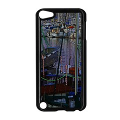 Christmas Boats In Harbor Apple iPod Touch 5 Case (Black)
