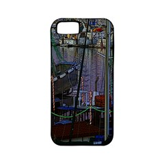 Christmas Boats In Harbor Apple iPhone 5 Classic Hardshell Case (PC+Silicone)