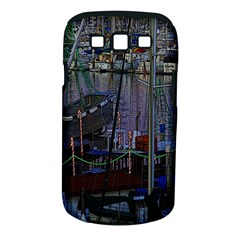 Christmas Boats In Harbor Samsung Galaxy S III Classic Hardshell Case (PC+Silicone)