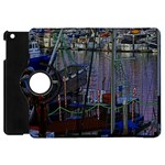 Christmas Boats In Harbor Apple iPad Mini Flip 360 Case Front