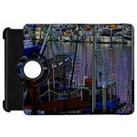 Christmas Boats In Harbor Kindle Fire HD Flip 360 Case Front