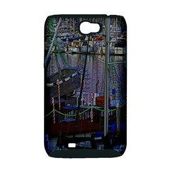 Christmas Boats In Harbor Samsung Galaxy Note 2 Hardshell Case (PC+Silicone)
