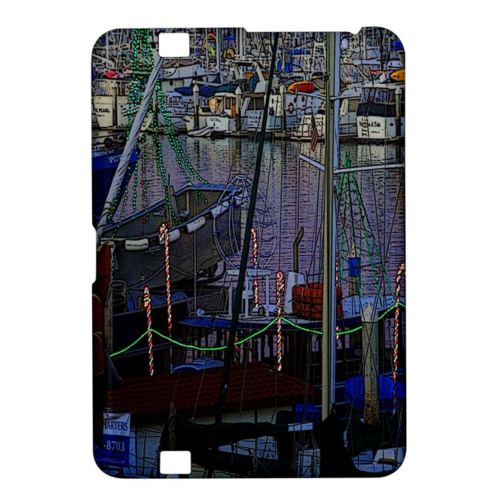 Christmas Boats In Harbor Kindle Fire HD 8.9