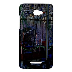 Christmas Boats In Harbor HTC Butterfly X920E Hardshell Case